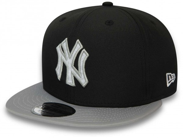New Era - MLB New York Yankees Team 9Fifty Snapback Cap - Schwarz Ansicht vorne schräg links