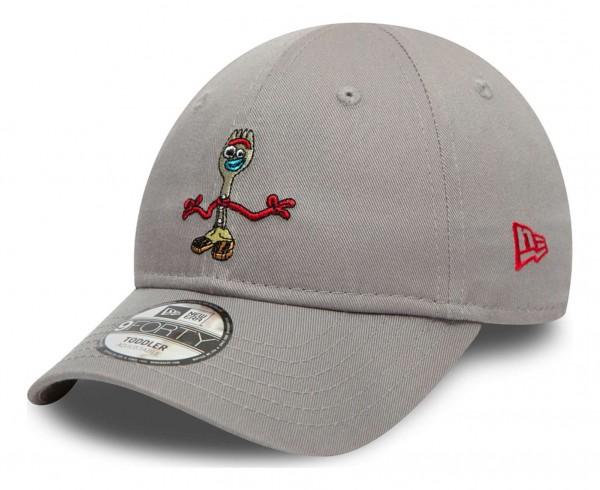 New Era - Disney Toy Story Small Logo Forky 9Forty Toddler Strapback Cap - Grau Ansicht vorne schräg links
