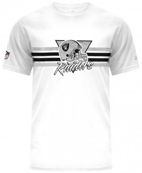 New Era - NFL Oakland Raiders Retro Script T-Shirt - Weiß Vorderansicht