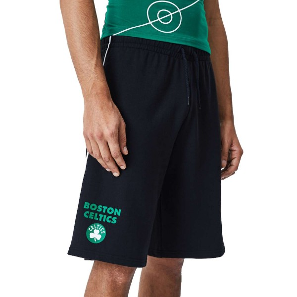 New Era - NBA Boston Celtics Piping Short Shorts - Schwarz Ansicht vorne rechts