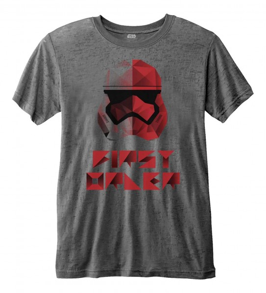 Bravado - Star Wars Episode 8 First Order Geo T-Shirt - Grau Vorderansicht