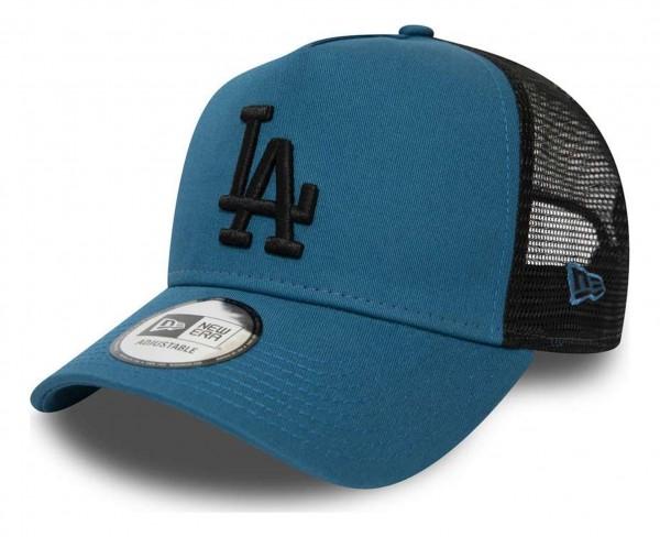 New Era - MLB Los Angeles Dodgers League Essential Trucker A-Frame Snapback Cap - Türkis Ansicht vorne schräg rechts