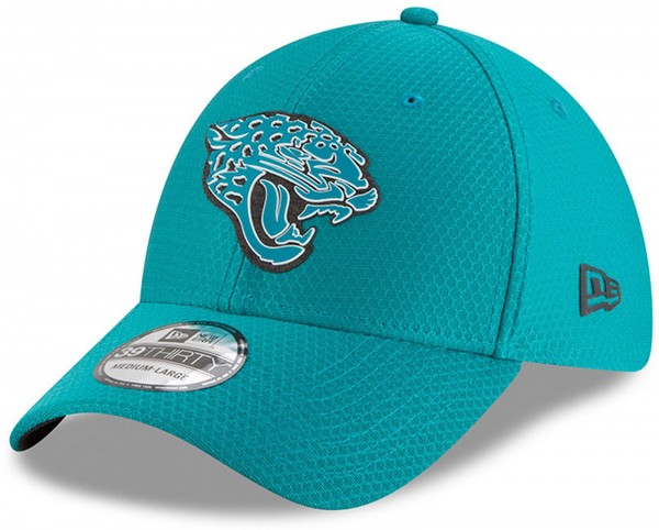 New Era - NFL Jacksonville Jaguars Official 2018 Training Secondary 39Thirty Stretch Cap - Grün
