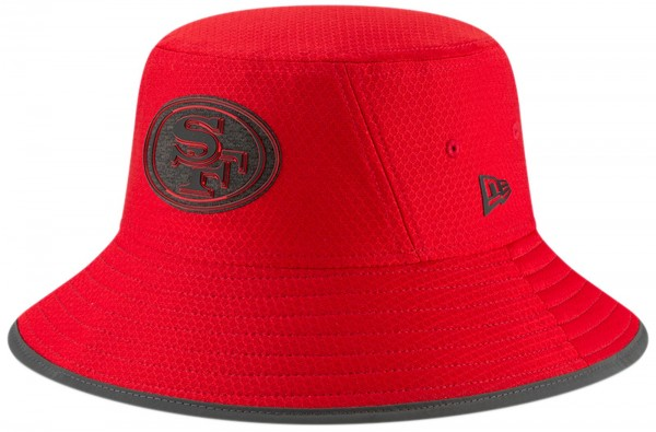 New Era - NFL San Francisco 49ers Official 2018 Training Bucket Hat Hut -  Rot cf0df7e0cf53