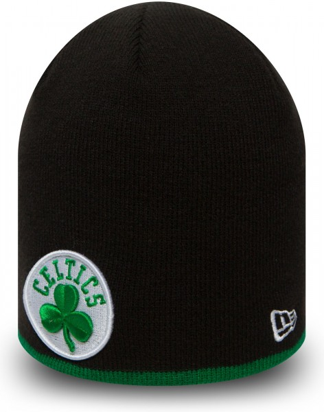 New Era - NBA Boston Celtics Team Knit Skull Beanie - Schwarz
