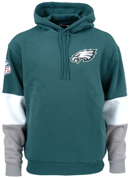 New Era - NFL New Philadelphia Eagles Colour Block Hoodie - Petrol-Grün ansicht vorne