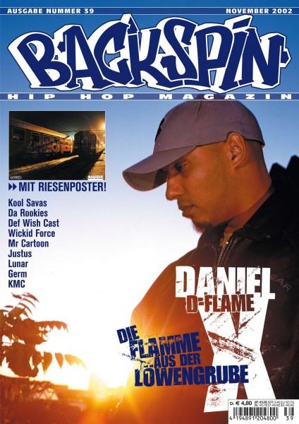 Auf dem Bild ist das Cover zu sehen der BACKSPIN Printausgabe Nummer 39
