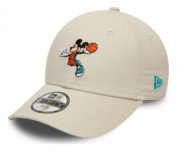 New Era - Disney Mickey Mouse Character Sports 9Forty Kids Strapback Cap - Grün Ansicht vorne schräg links