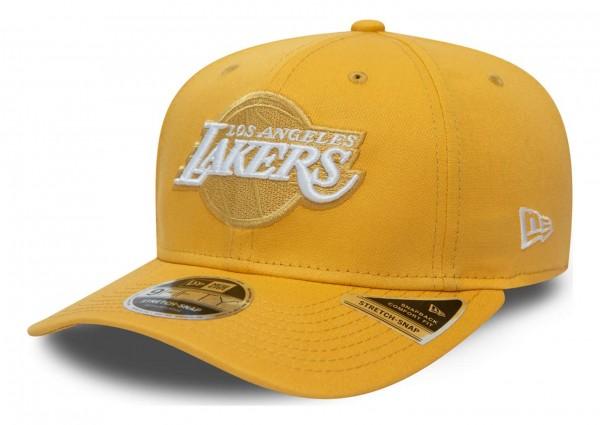New Era - NBA Los Angeles Lakers League Essential 9Fifty Stretch Snapback Cap - Grau Ansicht vorne schräg links