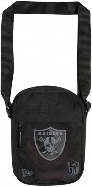 New Era - NFL Oakland Raiders Side Bag Tasche - Schwarz Vorderansicht