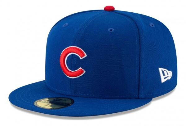 New Era - MLB Chicago Cubs Authentic Collection Fitted Cap - Blau Ansicht vorne schräg links