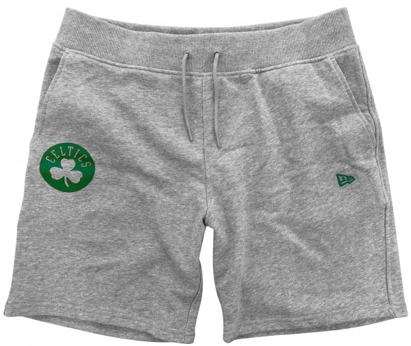 New Era - NBA Boston Celtics Apparel Pop Logo Shorts - Grau Vorderseite