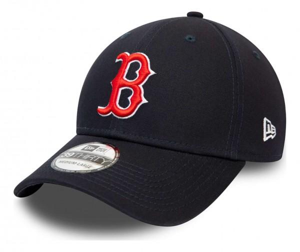 New Era - MLB Boston Red Sox League Essential 39Thirty Stretch Cap - Schwarz Ansicht vorne schräg links