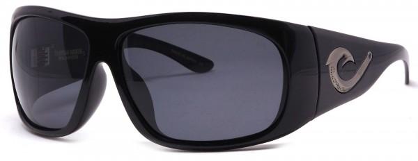 Black Flys - Tahitian Hooker - Sonnenbrille polarisiert - Schwarz glänzend