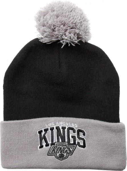 Mitchell & Ness - NHL Los Angeles Kings Tarck Bobble Cuff Beanie - black