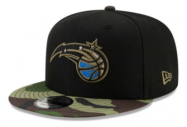 New Era - NBA Orlando Magic ASG Camo 9Fifty Snapback Cap - Schwarz Ansicht vorne schräg rechts