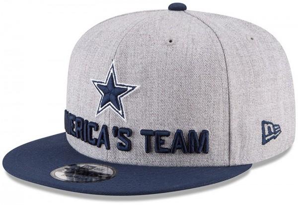 New Era - NFL Dallas Cowboys Draft 2018 On Stage 9Fifty Snapback Cap - Grau-Navy