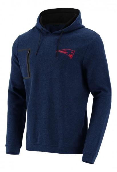 Fanatics - NFL New England Patriots Mono Premium Graphic Hoodie - Blau Vorderansicht