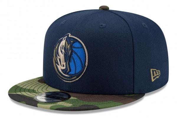 New Era - NBA Dallas Mavericks ASG Camo 9Fifty Snapback Cap - Blau Ansicht vorne schräg rechts