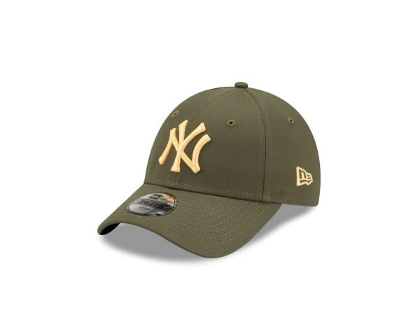 New Era - MLB New York Yankees League Essential 9Forty Kids Strapback Cap - Grün Ansicht vorne schräg links