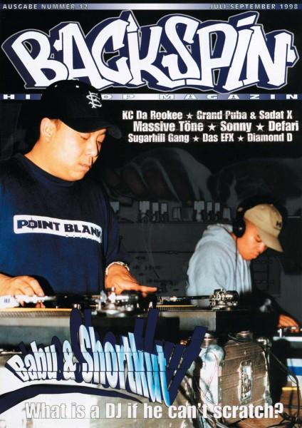 Auf dem Bild ist das Cover zu sehen der BACKSPIN Printausgabe Nummer 12