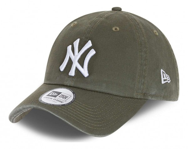 New Era - MLB New York Yankees Team Casual Classic 9Twenty Strapback Cap - Grün Ansicht vorne schräg links