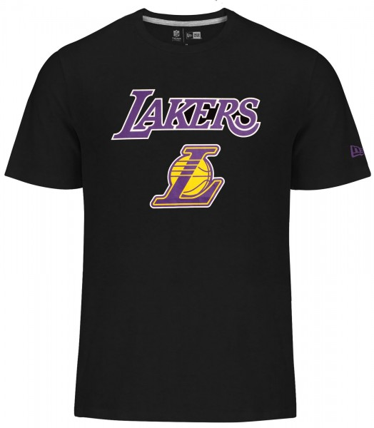 New Era - NBA Los Angeles Lakers Team Logo T-Shirt - Schwarz
