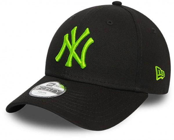 New Era - MLB New York Yankees 9Forty Kids Snapback Cap - Schwarz Ansicht vorne schräg links