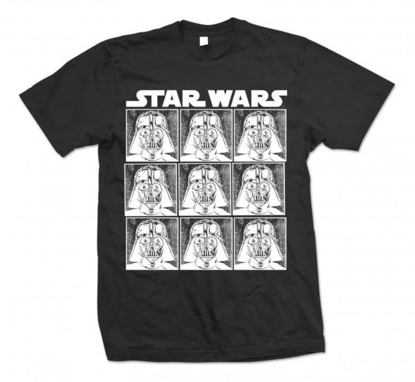 Bravado - Star Wars Vader Repeat T-Shirt - Schwarz Vorderansicht