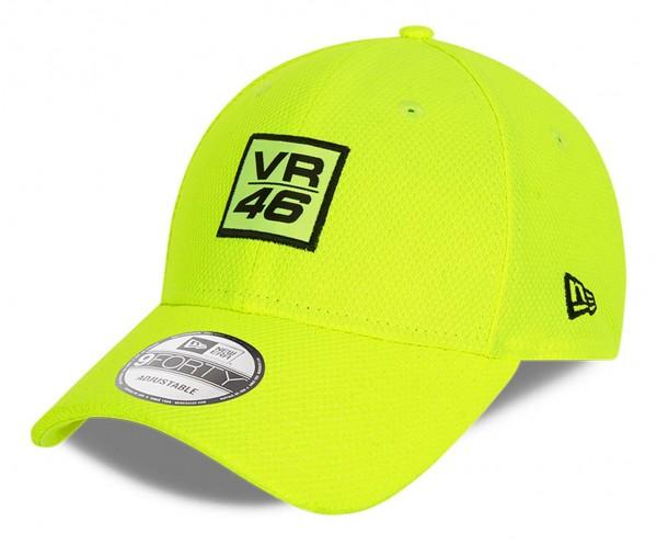 New Era - VR46 Diamond Era 9Forty Strapback Cap - Gelb Ansicht vorne schräg links