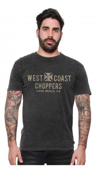 West Coast Choppers - WCC Eagle Vintage T-Shirt - Schwarz Vorderansicht
