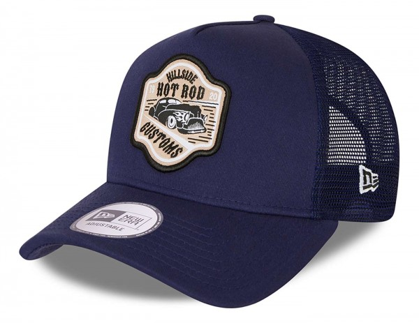 New Era - Hot Rod Trucker Snapback Cap - Blau Ansicht vorne schräg links