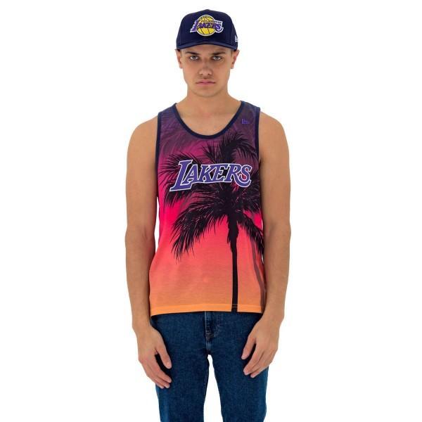 New Era - NBA Los Angeles Lakers Summer City Tank Top - Mehrfarbig Vorderansicht