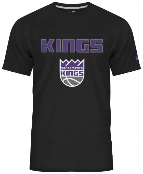 New Era - NBA Sacramento Kings Team Logo T-Shirt - Schwarz Vorderansicht