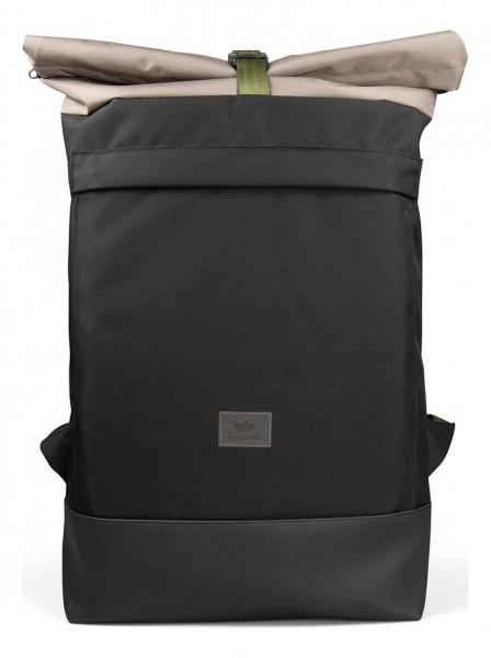 Freibeutler - Courier Bag Oliv Strap Tasche - Schwarz Vorderansicht