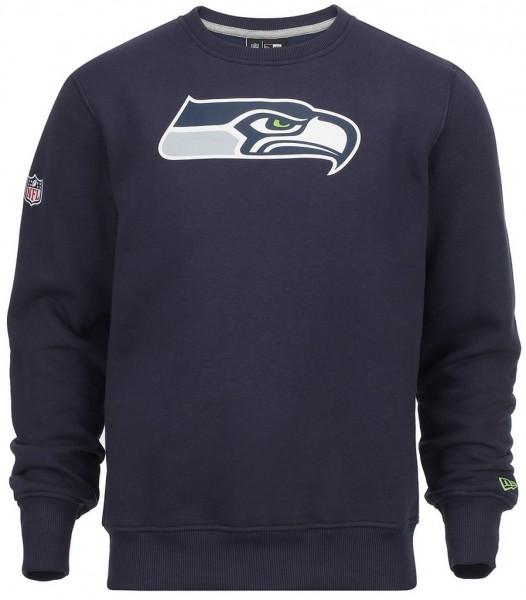 New Era - NFL Seattle Seahawks Team Logo Sweatshirt - navy