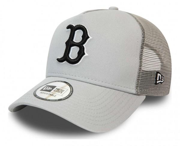New Era - MLB Boston Red Sox League Essential Trucker Snapback Cap - Schwarz Ansicht vorne schräg links