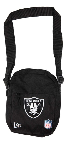 New Era - NFL Oakland Raiders Side Bag Tasche - Schwarz Vorderansicht