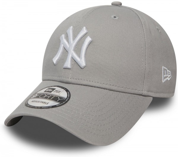 New Era - MLB New York Yankees Essential 9Forty Cap - Grau-Weiß