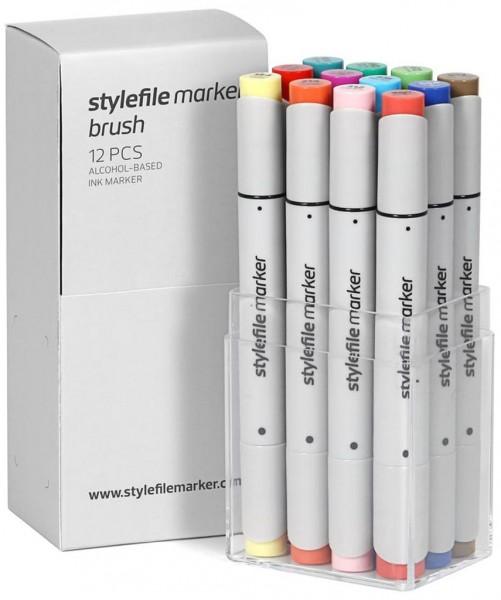 Stylefile - Marker 12er Set Brush Layoutmarker - Main B