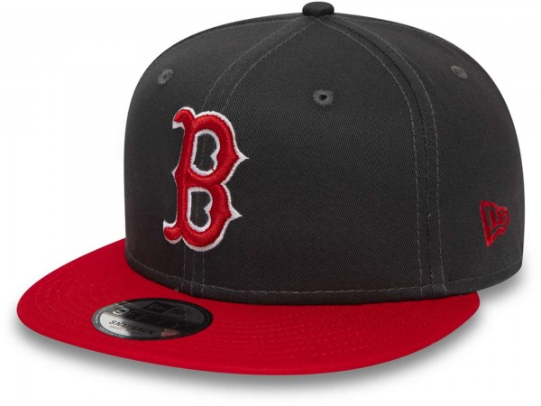 New Era - MLB Boston Red Sox League Essential 9Fifty Snapback Cap - Grau Ansicht vorne schräg links