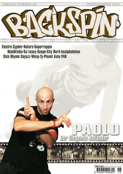 Auf dem Bild ist das Cover zu sehen der BACKSPIN Printausgabe Nummer 26