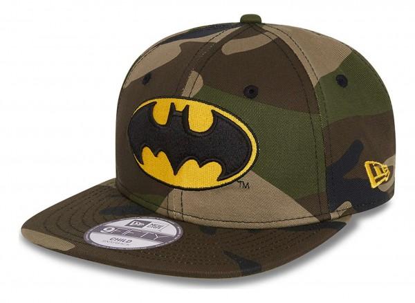 New Era - DC Comics Batman Camo 9Fifty Kids Snapback Cap - Camouflage Ansicht vorne schräg links