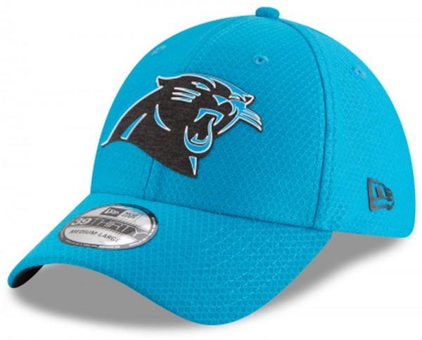 New Era - NFL Carolina Panthers Official 2018 Training OTC 39Thirty Stretch Cap - Blau