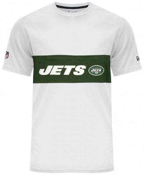 New Era - NFL New York Jets Border Edge Panel T-Shirt - Weiß
