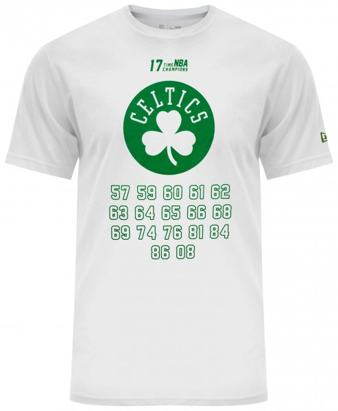 New Era - NBA Boston Celtics Team Champion T-Shirt - Weiß Vorderansicht
