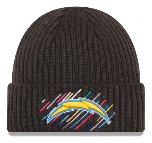 New Era - NFL Los Angeles Chargers 2021 Crucial Catch Knit - Grau Vorderansicht