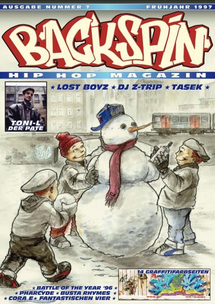 Auf dem Bild ist das Cover zu sehen der BACKSPIN Printausgabe Nummer 7