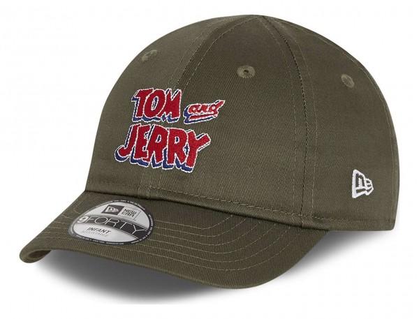 New Era - Tom and Jerry Film Character 9Forty Infant Strapback Cap - Grün Ansicht vorne schräg links