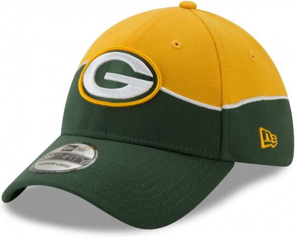 New Era - NFL Green Bay Packers Draft 2019 On-Stage 39Thirty Stretch Cap - Grün Ansicht schräg links